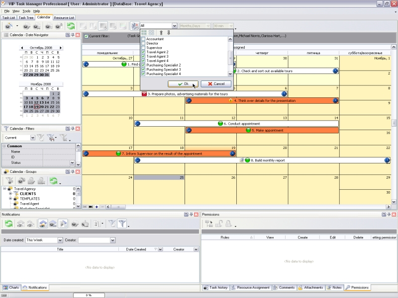 Calendar schedule software managing time better for Task order management plan template