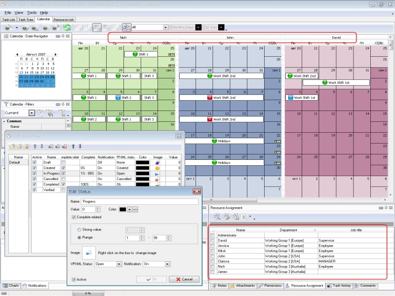 Calendar Planner Program : Employee time management software for accountants