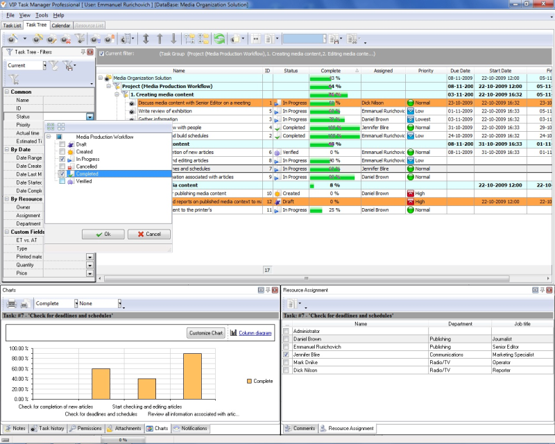 project monitoring plan template - job status software to keep a control over working