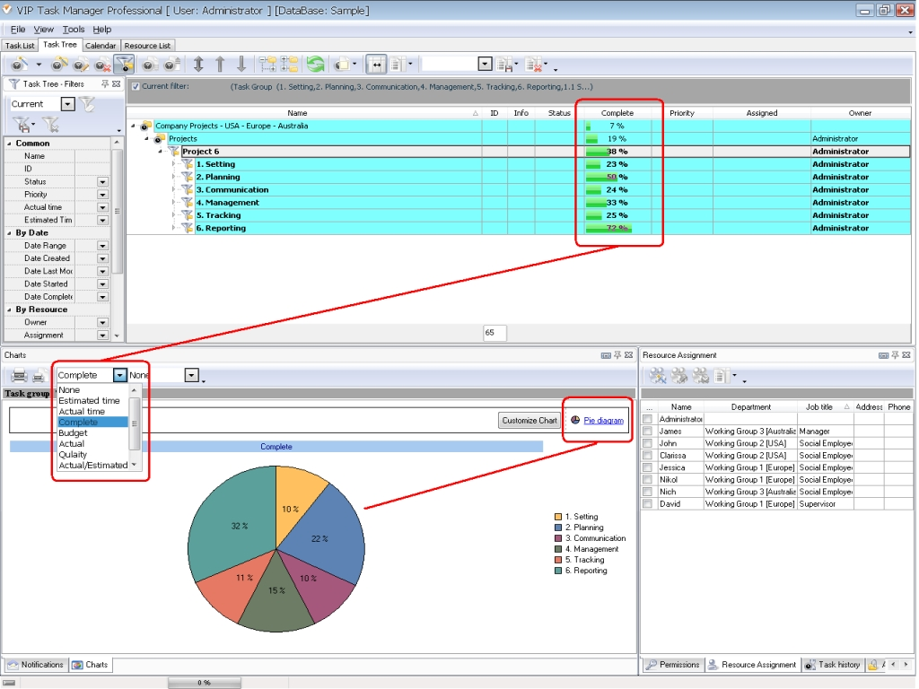 Office inventory software in combination with task for Office planning software