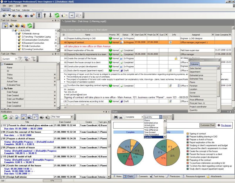 Opportunity management software for managing projects and business