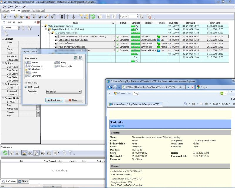 Report Software For Project And Business Managers