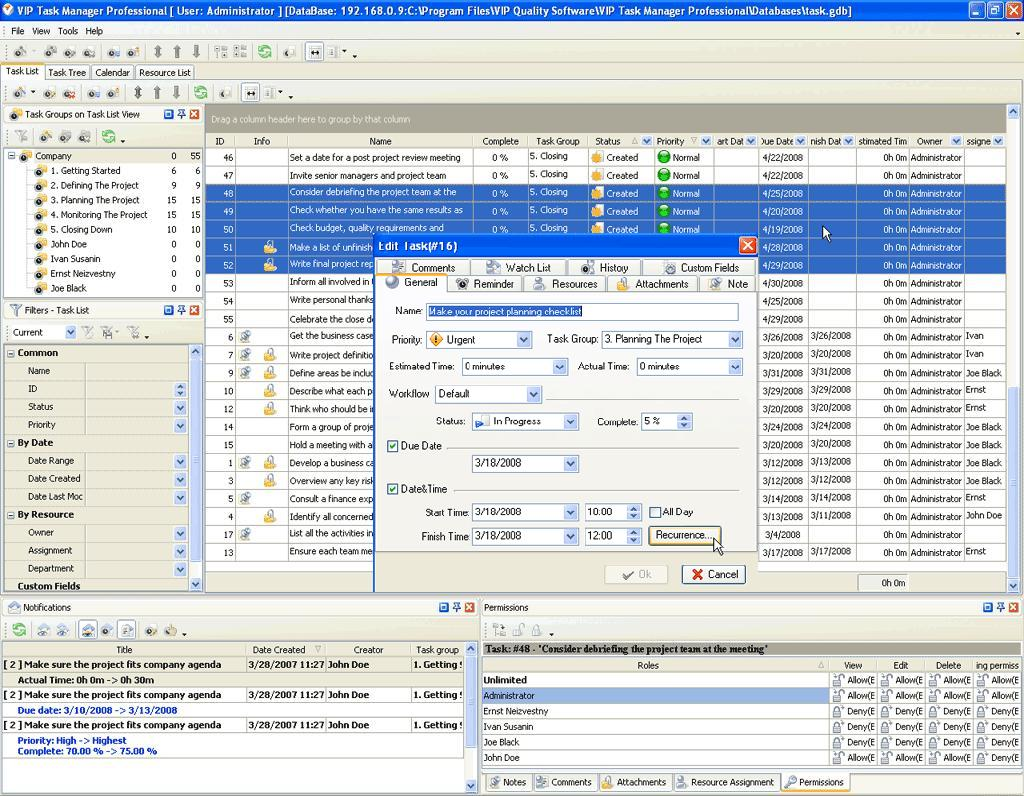 client and project management software
