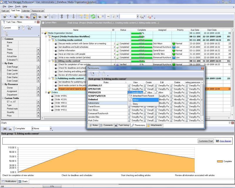 Spreadsheet software for task management