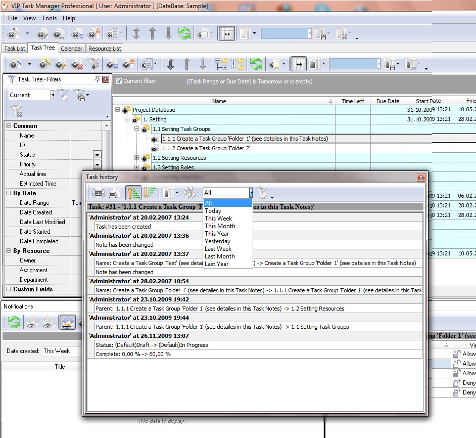 task logging software keeping history of task changes on track
