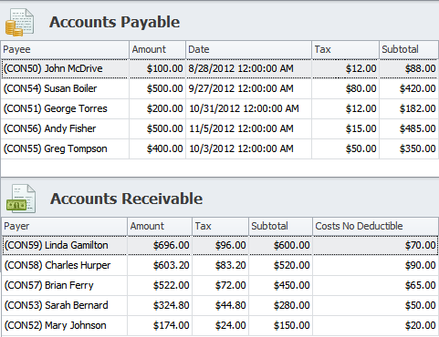 Accounts Payable and Accounts Receivable in CentriQS