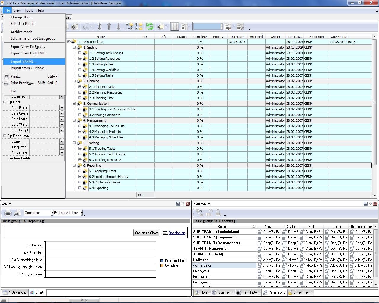 Project management system