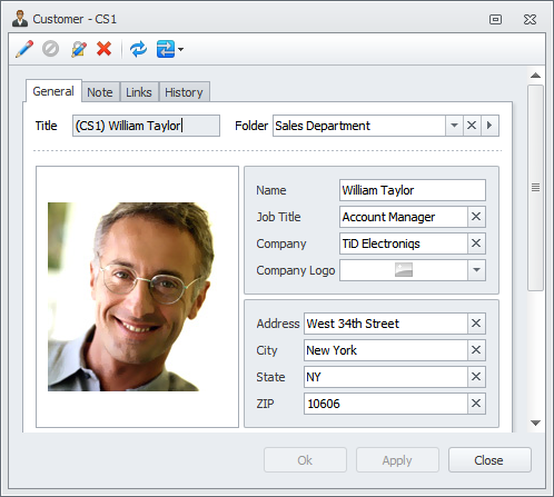 screen shot of CentriQS - business and sales management software