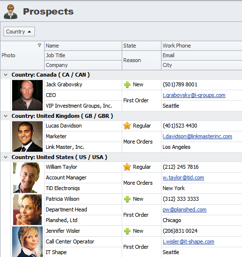 screen shot of CentriQS - software for managing business and sales