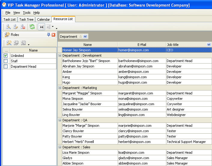 Step 2  Organizing software development company staff