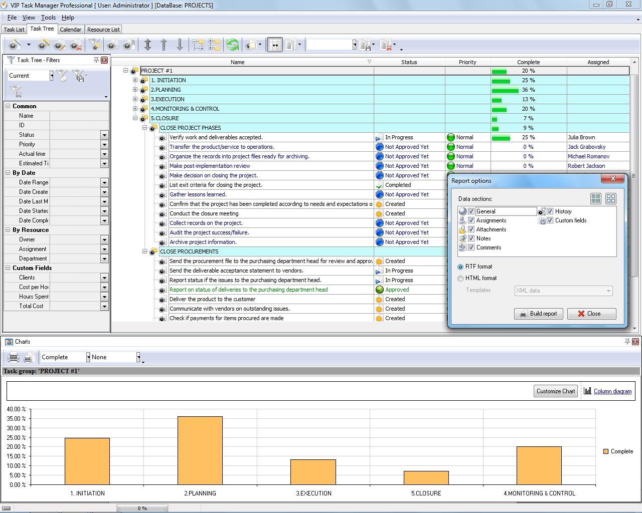 project management database